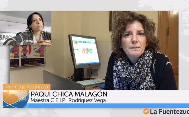"""Entrevista a Paqui Chica Malagón, maestra y Secretaria del CEIP """"Rodríguez Vega"""""""