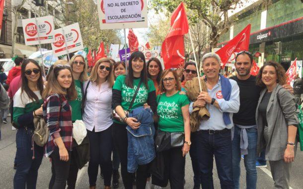 Huelga en la educación andaluza en contra del decreto de escolarización