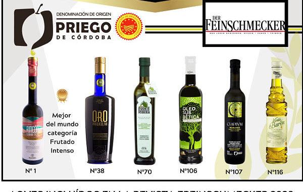 Seis firmas de la DOP Priego, incluídas en la prestigiosa revista alemana Feinschmecker