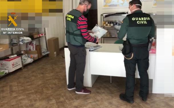 La Guardia Civil detiene a dos personas por la venta fraudulenta de material sanitario
