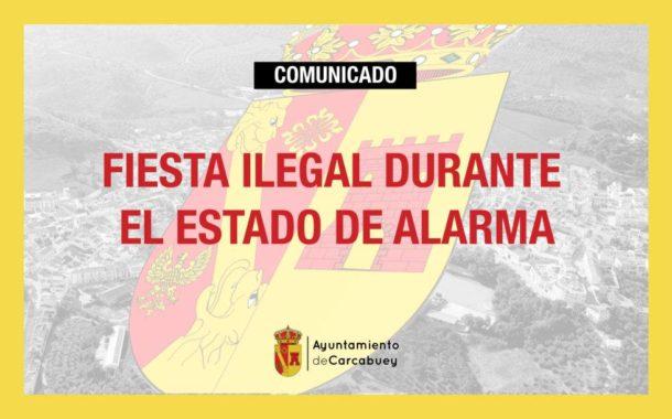 El Ayuntamiento de Carcabuey lamenta y condena la fiesta ilegal de un grupo de jóvenes