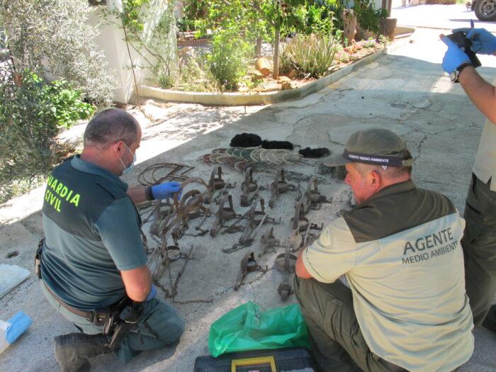 La Guardia Civil, con la colaboración de Agentes de Medio Ambiente, investigan a una persona por la utilización de veneno