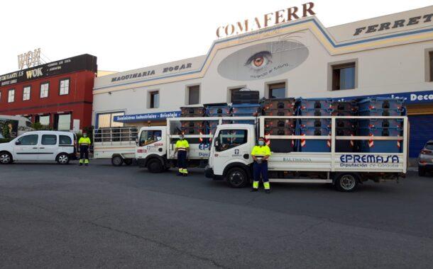 Epremasa dota de contenedores a las empresas de los polígonos y zonas industriales de Lucena