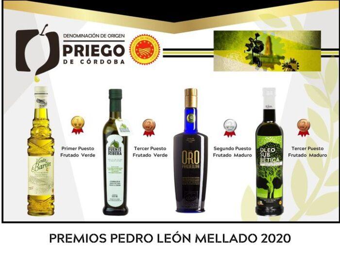 """Los caldos de aceituna de la DOP """"Priego de Córdoba"""" copan los galardones del concurso internacional Pedro León Mellado de Montoro"""