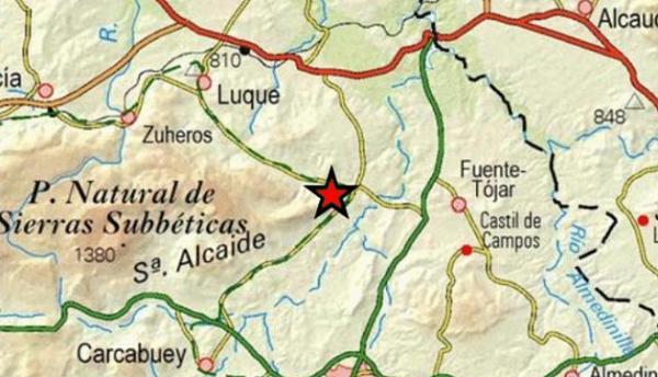 Registrado un terremoto de baja intensidad en el término municipal de Fuente-Tójar