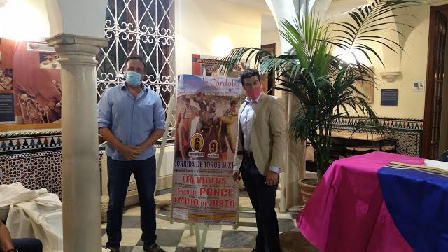 Enrique Ponce, Emilio de Justo y Lea Vicens, anunciados el día 6 de Septiembre en Priego
