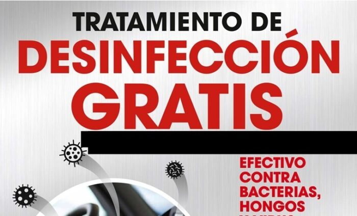 Tratamiento de desinfección de vehículos gratis