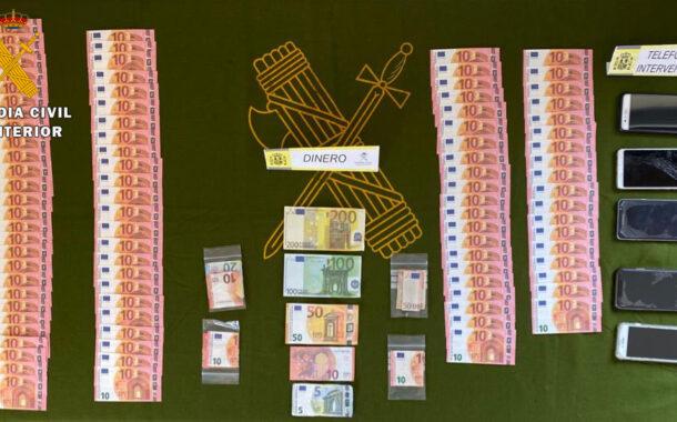 La Guardia Civil detiene a dos personas e investiga a otras dos como supuestos autores de un delito de falsificación de moneda