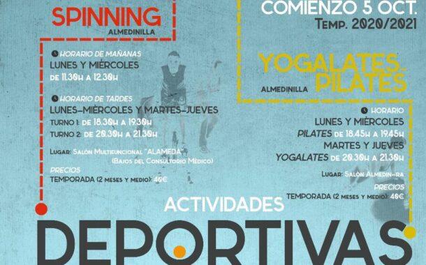 Comienzo de las actividades deportivas Temporada 20/21