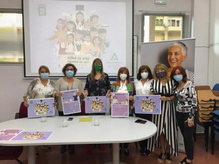 Las cordobesas Pilar Gómez y Ana Alonso protagonizan el calendario coeducativo del IAM 'Niñas de ayer, mujeres de hoy'