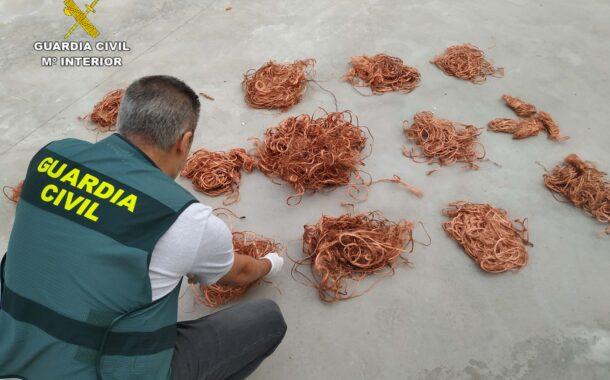 La Guardia Civil detiene a una persona en Villafranca y recupera cable de cobre sustraído