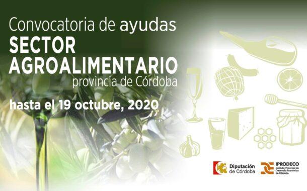 Iprodeco abre una convocatoria de subvenciones para el apoyo a la comercialización de las empresas agroalimentarias cordobesas
