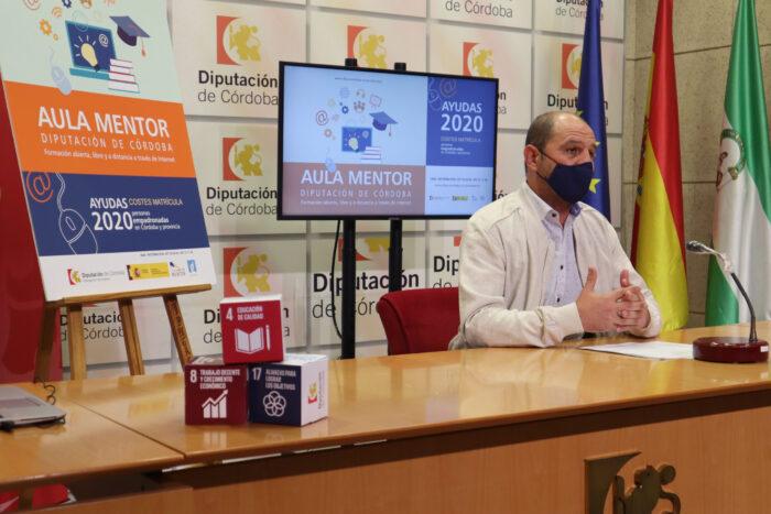 La Diputación abre una convocatoria de ayudas para pagar los costes de matrícula de los cursos de Aula Mentor