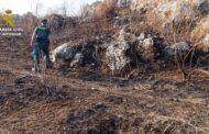 El SEPRONA con la colaboración del Puesto de Castro del Río investiga a una persona como supuesto autor de un incendio forestal en el Parque Natural de las Sierras Subbéticas.
