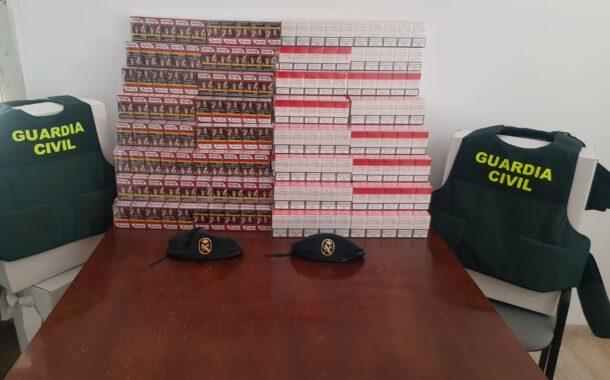 La Guardia Civil aprehende 1480 cajetillas de tabaco de contrabando en La Carlota y denuncia a una persona