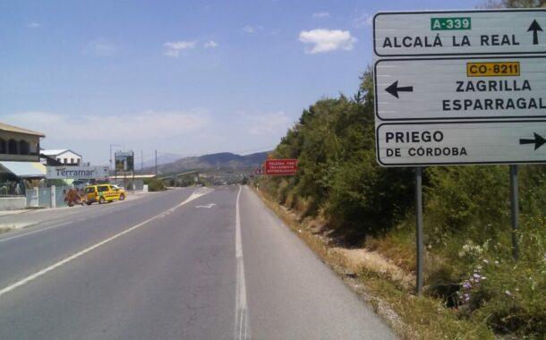 La Junta adjudica por 2,4 millones el arreglo de los tramos concentración de accidentes en la A-339, en Priego