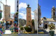 Las localidades de Almedinilla, Cabra e Iznájar,