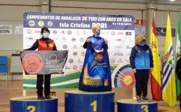 Trinidad García, medalla de plata en el XXVII Campeonato de Andalucía de tiro con arco