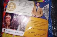 La imagen del alcalde de Cabra en las bolsas de chuches de los niños