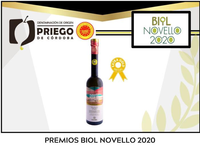 Rincón de la Subbética premiado en los premios Biol Novello
