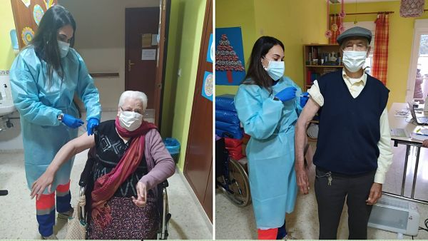 Las vacunas frente al Covid-19 llegan a las residencias de mayores de Priego y Cabra