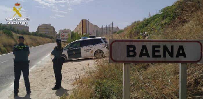 """La Guardia Civil detiene en Baena al supuesto autor de un robo con violencia e intimidación por el procedimiento del """"tirón"""""""
