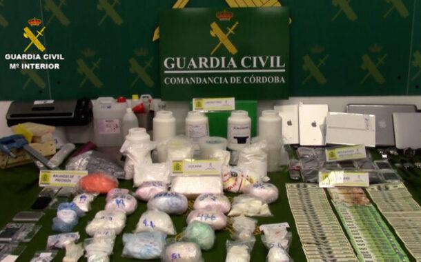 La Guardia Civil desarticula en Córdoba una organización criminal dedicada a la adquisición, adulteración y distribución de cocaína