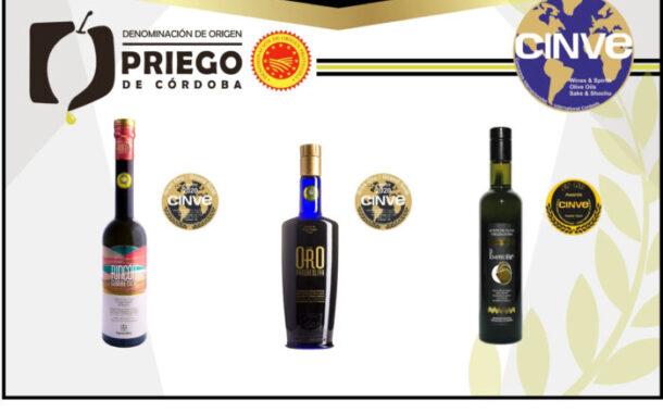 Los AOVE's de la DOP Priego de Córdoba reconocidos en los premios CINVE