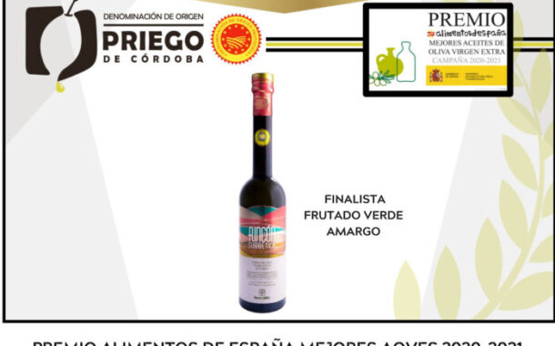 Una firma de la D.O.P. Priego de Córdoba, finalista en los premios