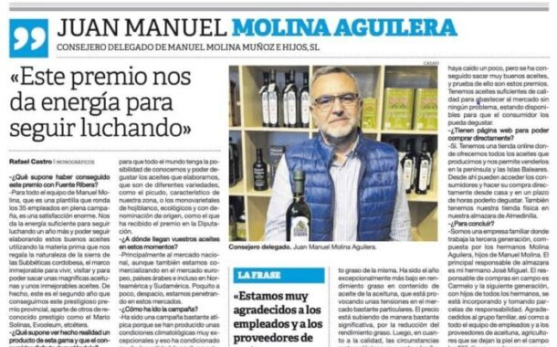 Entrevista a Juan Manuel Molina Aguilera