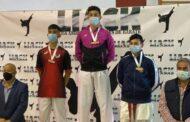 Los jóvenes karatecas almedinillenses, Javier y Paula Nieto Ordoñez, consiguen el primero y tercer puesto en el Campeonato de la Liga Andaluza