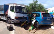 Cuatro heridos en un accidente de tráfico en la carretera que une Priego con Luque por Fuente Alhama