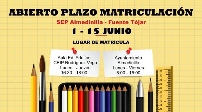 Abierto plazo matriculación Escuela de Adultos