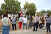 Misa de campaña en Los Llanos de Rueda, con motivo de la festividad del Corpus Christi
