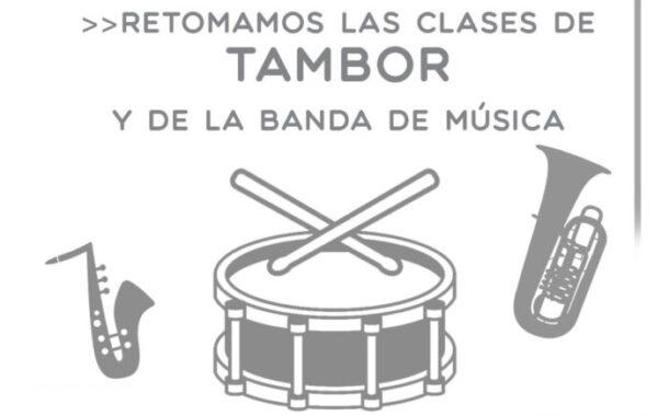 Se retoman las clases de tambor y Banda de Música
