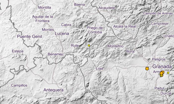 Registrado un terremoto de magnitud 1,9 con epicentro en el término municipal de Iznájar