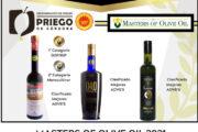 Tres AOVE'S de la D.O.P. Priego de Córdoba reciben un merecido reconocimiento en el Concurso Internacional MASTERS OF OLIVE OIL