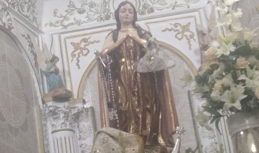 Roban el oro del escapulario de la Virgen del Carmen de Sileras