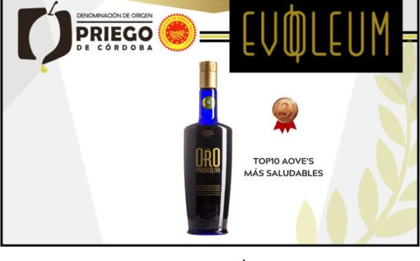 Un AOVE amparado bajo la D.O.P. Priego de Córdoba entre los 10 más saludables, según la Guía EVOOLEUM