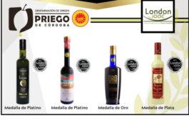 Los aceites de oliva vígenes extra, amparados bajo la D.O.P. Priego de Córdoba, premiados en el London International Olive Oil Competition
